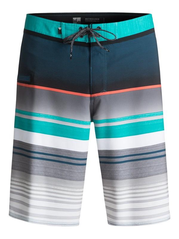 "0 Everyday Stripe Vee 21"" Boardshorts Blue EQYBS03575 Quiksilver"