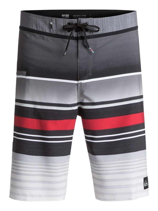"0 Everyday Stripe Vee 21"" Boardshorts Black EQYBS03575 Quiksilver"