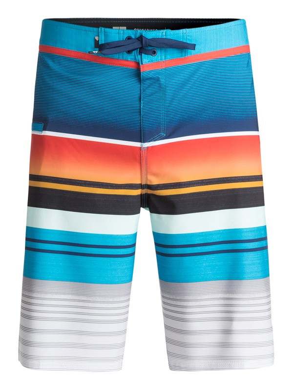 "0 Everyday Stripe Vee 21"" Boardshorts Orange EQYBS03575 Quiksilver"