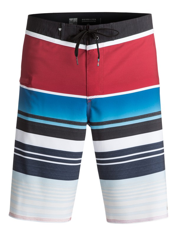 "0 Everyday Stripe Vee 21"" Boardshorts Red EQYBS03575 Quiksilver"