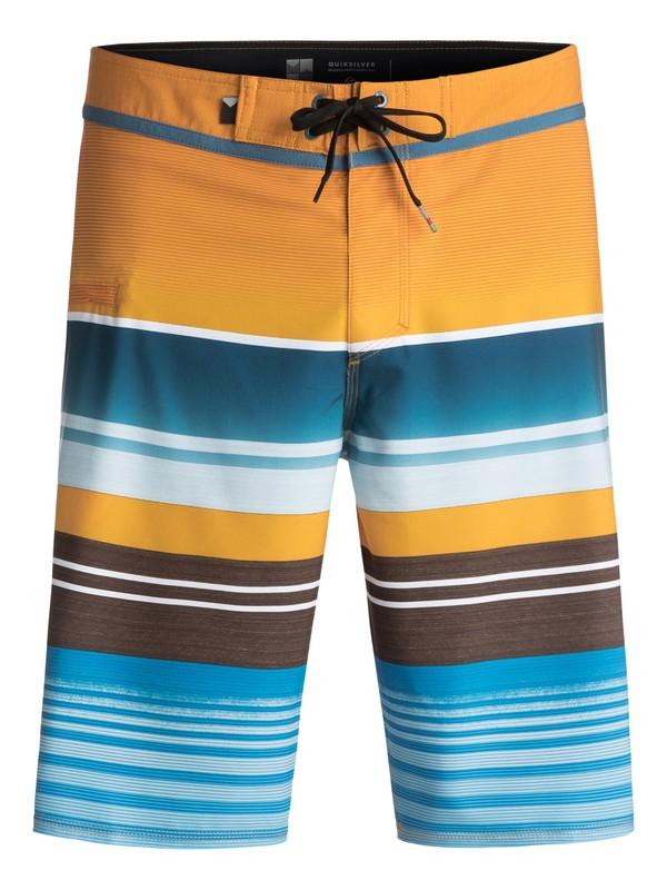 "0 Everyday Stripe Vee 21"" Boardshorts Yellow EQYBS03575 Quiksilver"