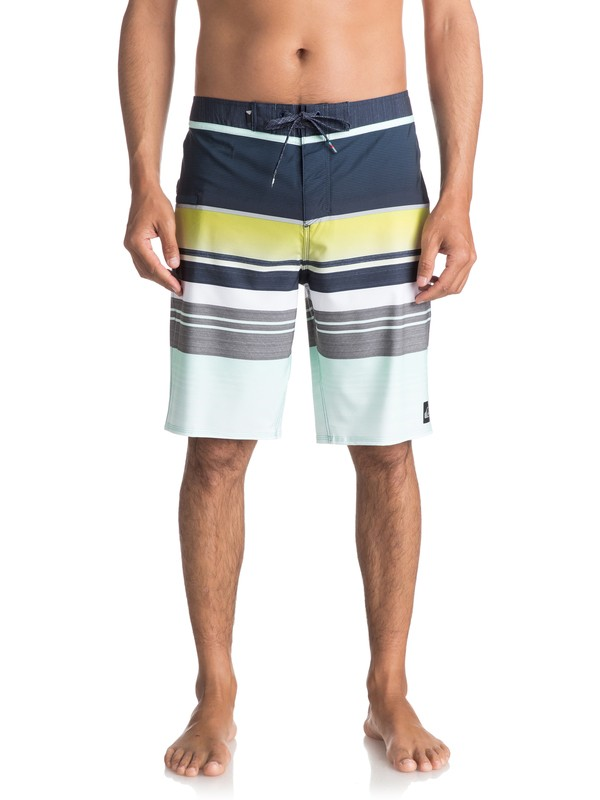 "0 Everyday Stripe Vee 21"" Boardshorts Blue EQYBS03575 Quiksilver"