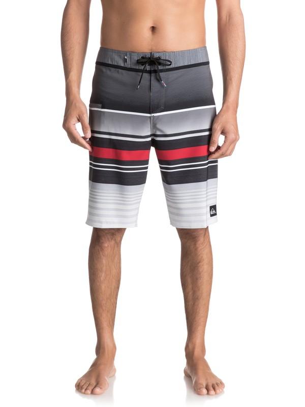 "0 Everyday Stripe Vee 21"" Boardshorts Black EQYBS03575 Quiksilver"