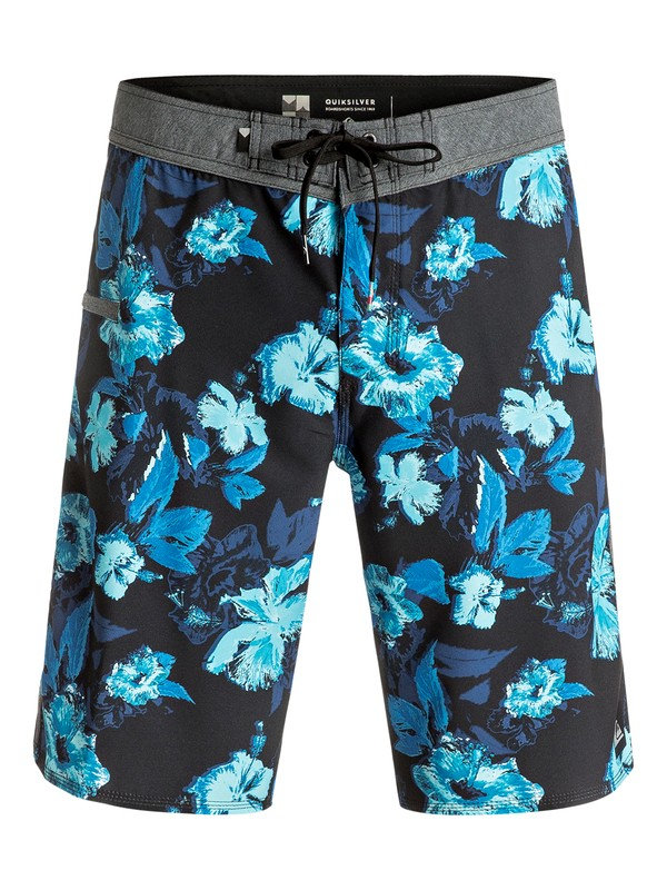 "0 Jungle Fever Vee 21"" Boardshorts Blue EQYBS03577 Quiksilver"