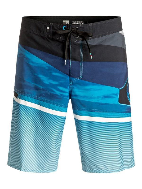 "0 Slash Logo Vee 20"" - Boardshort Bleu EQYBS03582 Quiksilver"