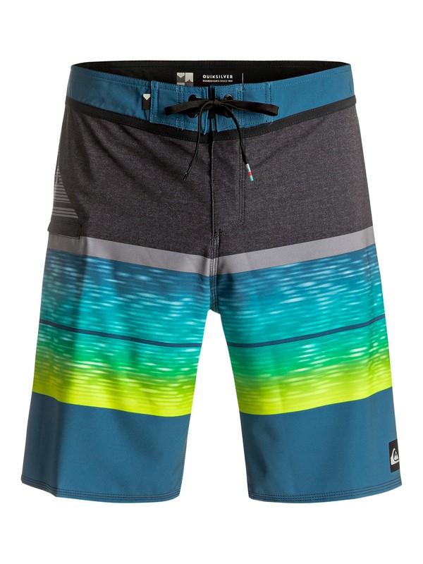 "0 Slab Logo Vee 20"" - Boardshorts Blau EQYBS03585 Quiksilver"