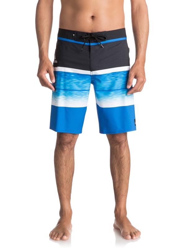 "0 Slab Logo Vee 20"" Boardshorts Blue EQYBS03585 Quiksilver"