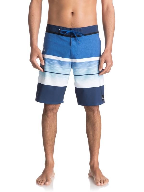 "0 Slab Logo Vee 20"" - Boardshort Bleu EQYBS03585 Quiksilver"