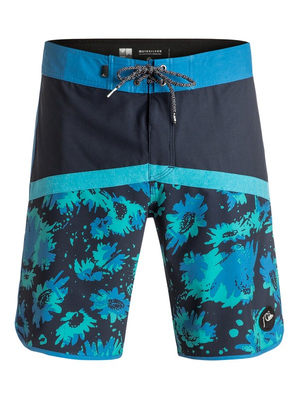"0 Crypt Scallop 20"" Boardshorts Blue EQYBS03600 Quiksilver"