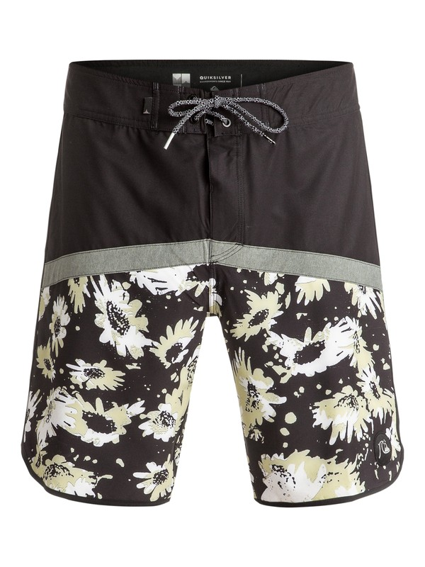 "0 Crypt Scallop 20"" Boardshorts Black EQYBS03600 Quiksilver"