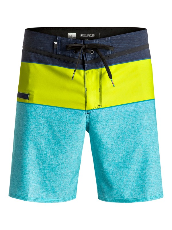 "0 Everyday Blocked Vee 17"" - Boardshort Bleu EQYBS03607 Quiksilver"