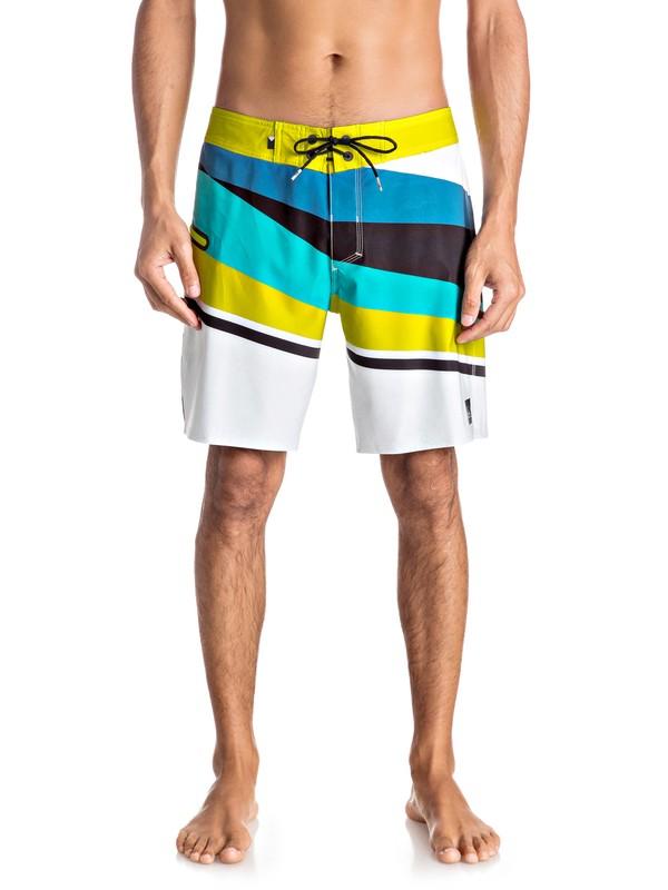 """0 Slash Vee 18"""" - Boardshort Yellow EQYBS03609 Quiksilver"""