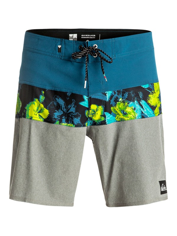 "0 Panel Blocked Vee 19"" - Boardshort Bleu EQYBS03632 Quiksilver"