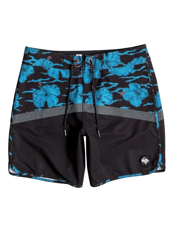 """0 Crypt Scallop 20"""" Boardshorts Black EQYBS03674 Quiksilver"""