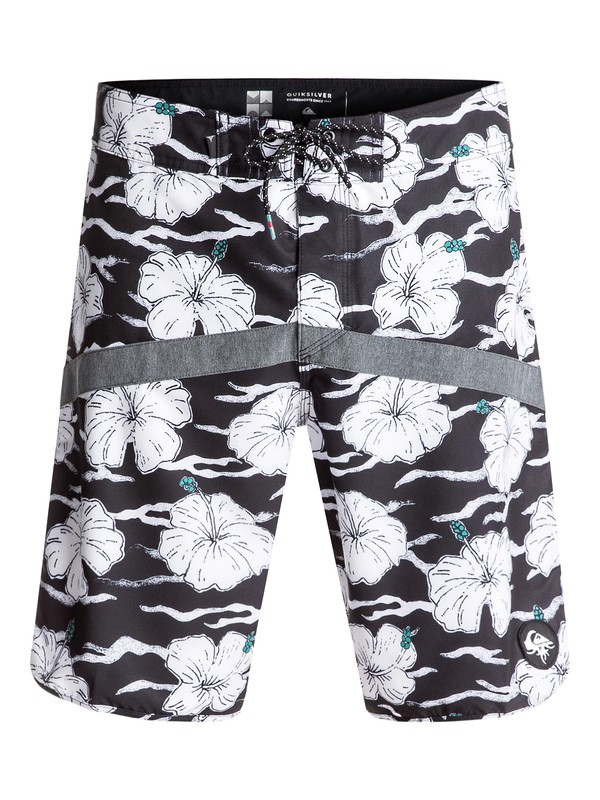 "0 Crypt Scallop 20"" Boardshorts White EQYBS03674 Quiksilver"