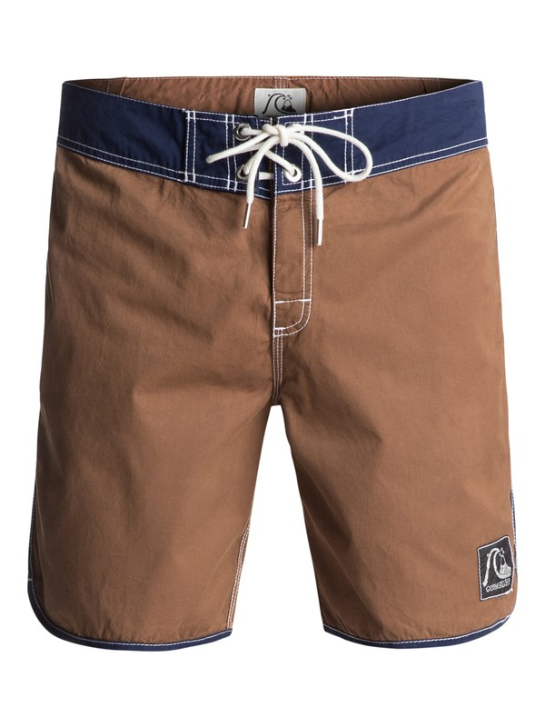 "0 Original Scallop 18"" Boardshorts Brown EQYBS03723 Quiksilver"