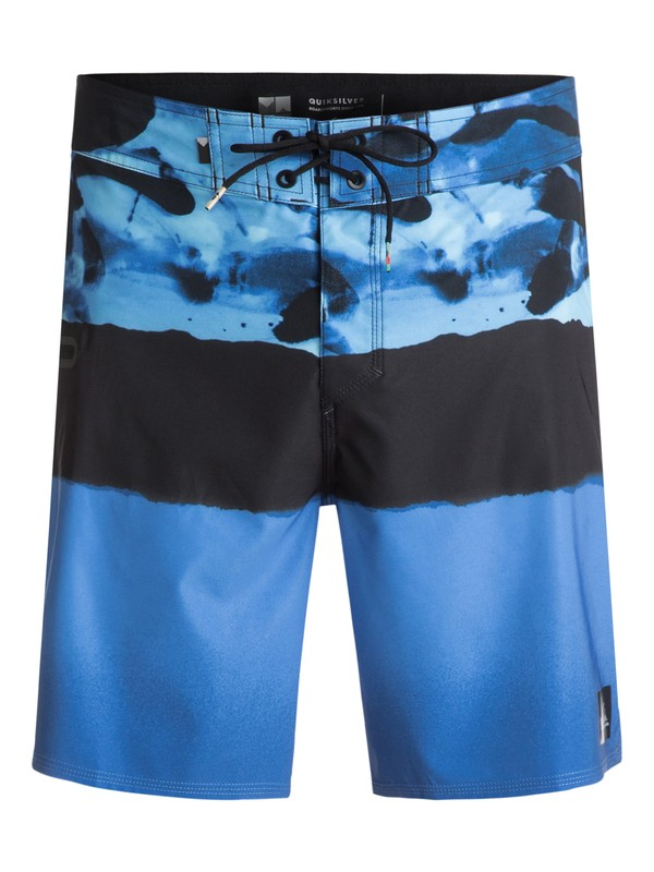 "0 Blocked Resin Camo 18"" - Board Shorts Blue EQYBS03741 Quiksilver"