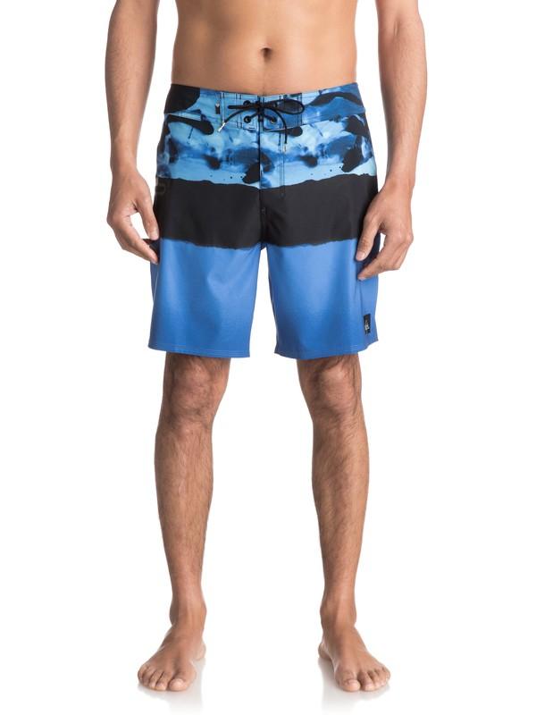 "0 Blocked Resin Camo 18"" - Board Shorts Blue EQYBS03741 Quiksilver"