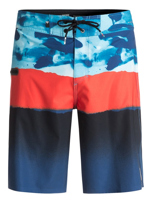 "0 Blocked Resin Camo 20"" Boardshorts Blue EQYBS03742 Quiksilver"