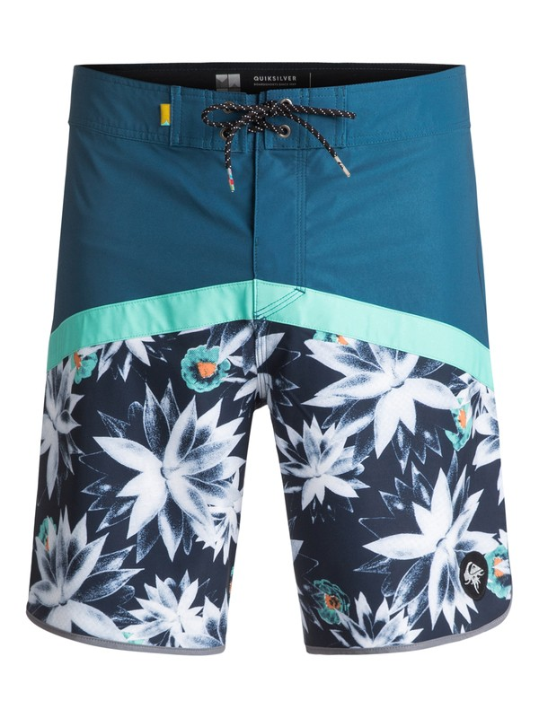 "0 Crypt Scallop 18"" - Boardshort Blue EQYBS03743 Quiksilver"