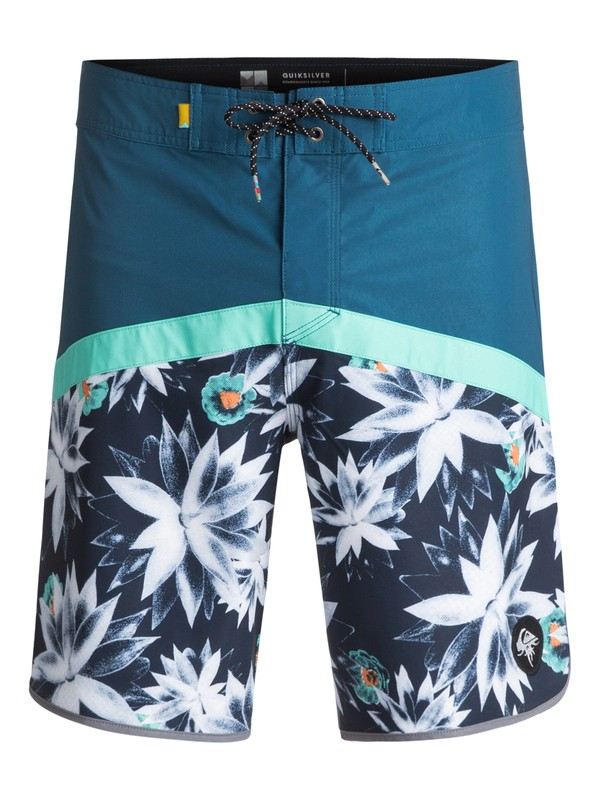 "0 Crypt Scallop 20"" Boardshorts Blue EQYBS03744 Quiksilver"