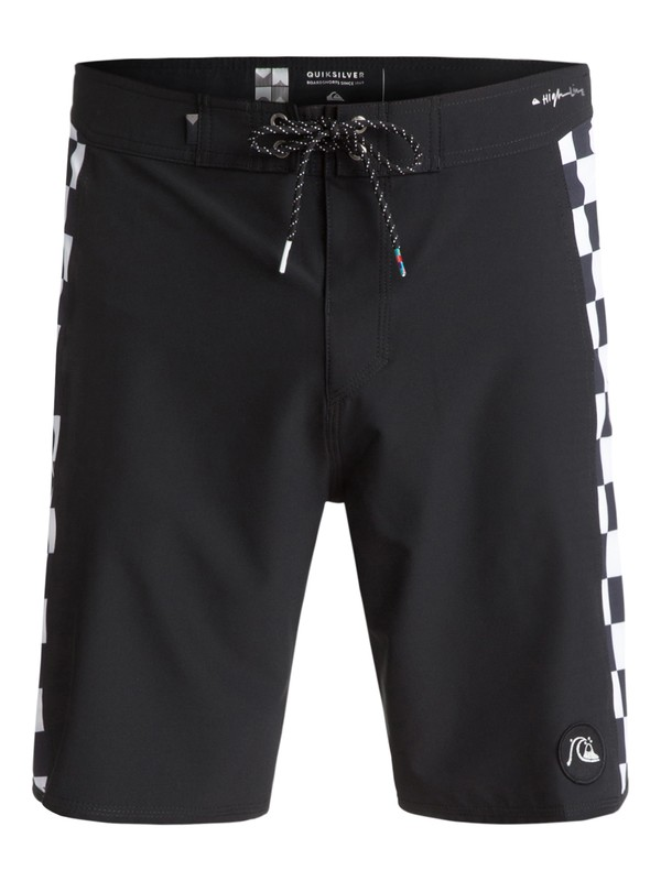 "0 Checker Arch 19"" Boardshorts Black EQYBS03761 Quiksilver"