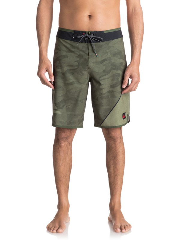 """0 New Wave 20"""" Boardshorts Green EQYBS03764 Quiksilver"""