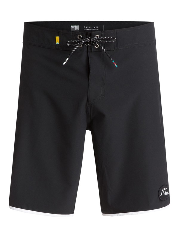 """0 The Scallop 19"""" Boardshorts Black EQYBS03766 Quiksilver"""