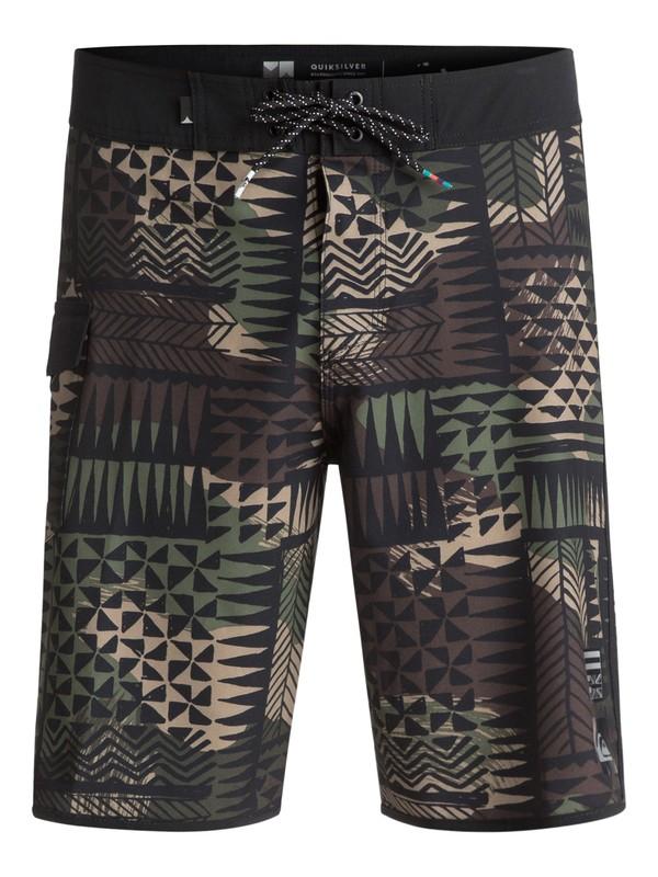 "0 The Scallop Hawaii 20"" Boardshorts Black EQYBS03787 Quiksilver"