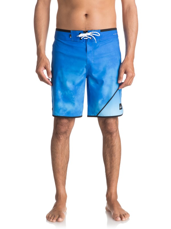 "0 Men's New Wave 19"" Boardshorts Blue EQYBS03810 Quiksilver"