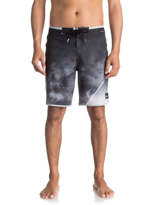 "0 Men's New Wave 19"" Boardshorts Black EQYBS03810 Quiksilver"