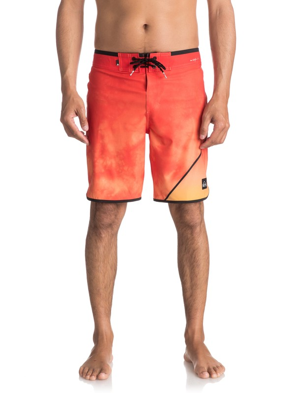 "0 Men's New Wave 19"" Boardshorts Orange EQYBS03810 Quiksilver"