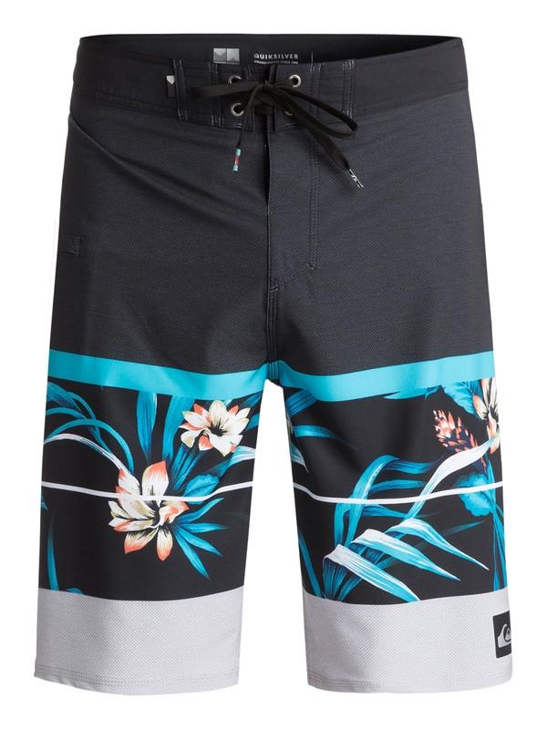 "0 Men's Slab Island Vee 21"" Boardshorts Blue EQYBS03817 Quiksilver"