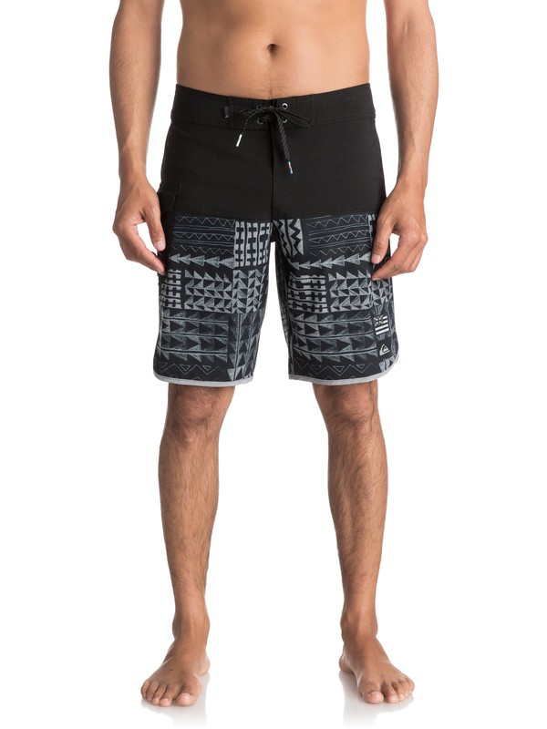"0 Men's The Scallop Hawaii 20"" Boardshorts Black EQYBS03818 Quiksilver"