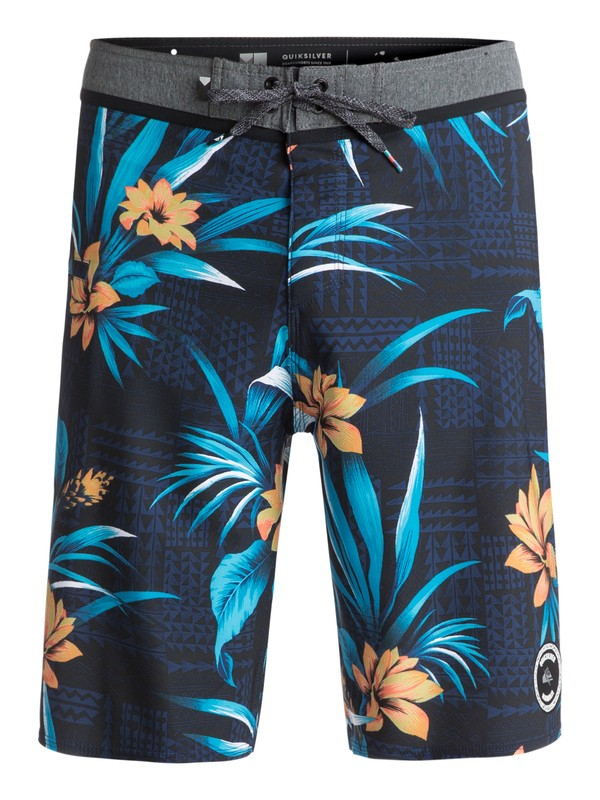 "0 Men's Everyday Hawaii Vee 21"" Boardshorts Blue EQYBS03819 Quiksilver"