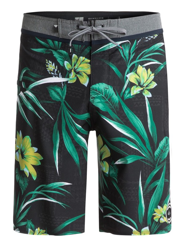 "0 Men's Everyday Hawaii Vee 21"" Boardshorts Black EQYBS03819 Quiksilver"