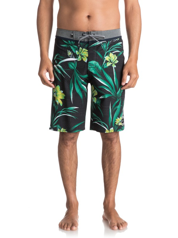 """0 Men's Everyday Hawaii Vee 21"""" Boardshorts Black EQYBS03819 Quiksilver"""