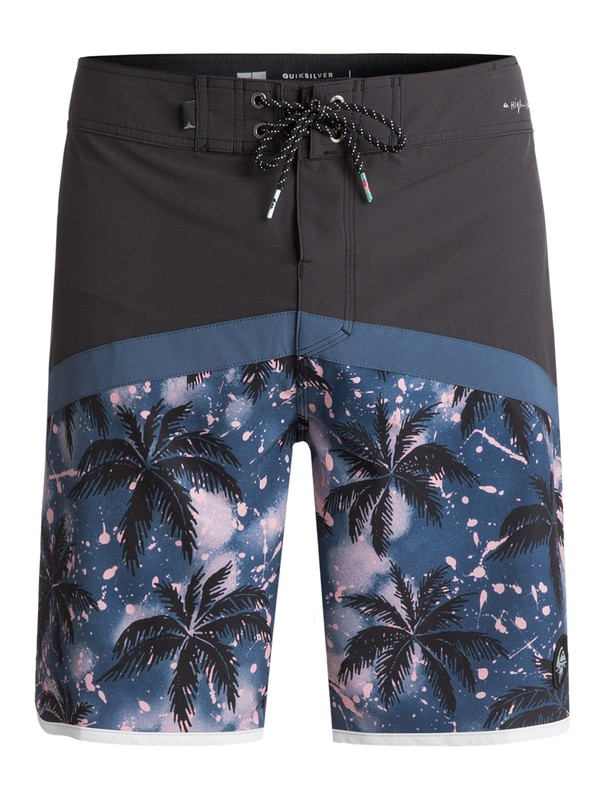 "0 Men's Crypt Scallop 20"" Boardshorts Black EQYBS03824 Quiksilver"
