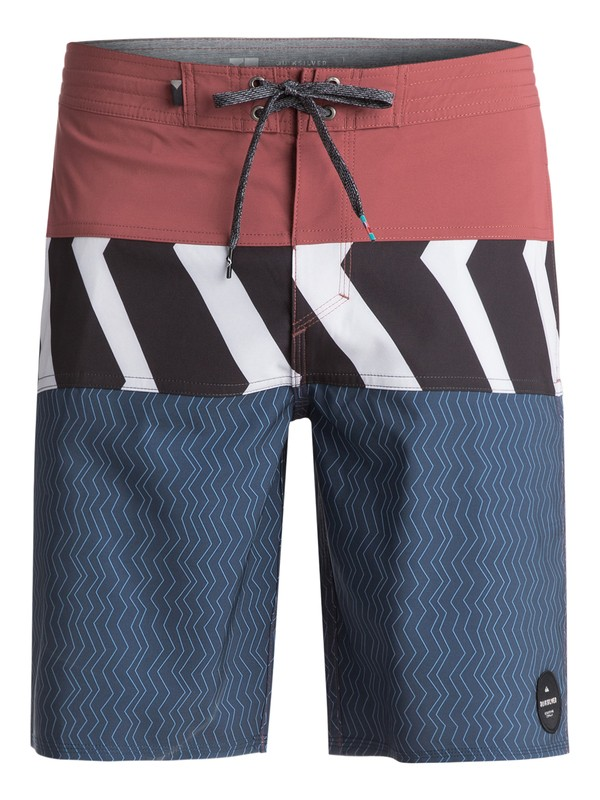 "0 Men's Zigzag Blocked 20"" Boardshorts Blue EQYBS03831 Quiksilver"