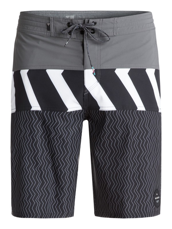 "0 Men's Zigzag Blocked 20"" Boardshorts Black EQYBS03831 Quiksilver"