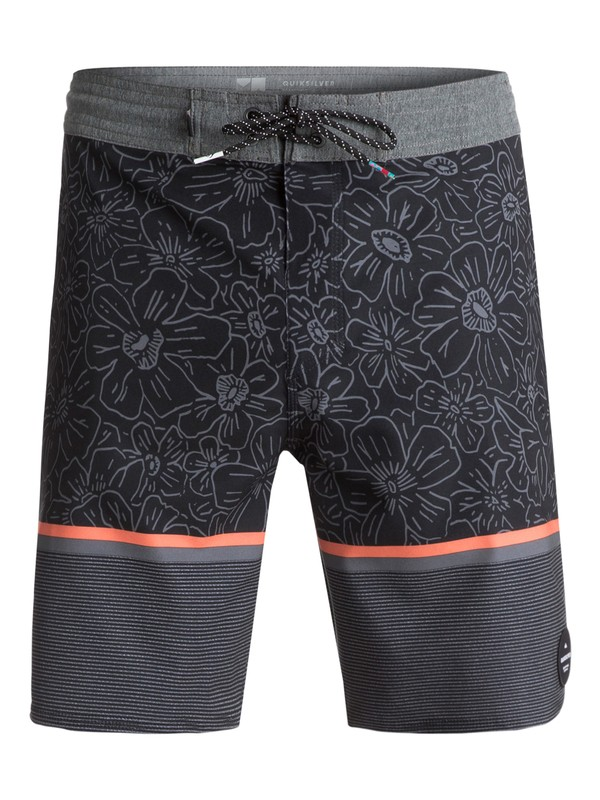 "0 Men's Electric Hippy 18"" Beachshorts Black EQYBS03837 Quiksilver"