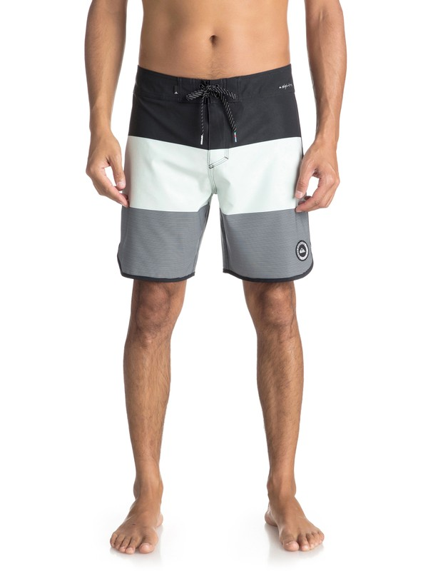 "0 Highline Tijuana Scallop 18"" - Board Shorts Black EQYBS03852 Quiksilver"
