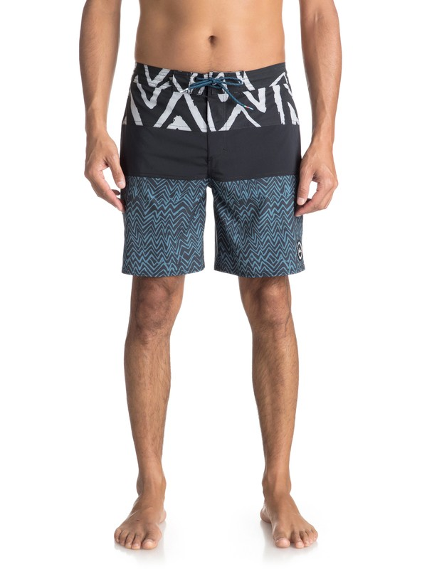 "0 Techtonics 18"" Volley Beachshorts Blue EQYBS03863 Quiksilver"