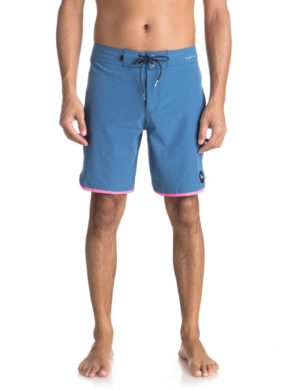 """0 Highline Scallop 19"""" Boardshorts Blue EQYBS03885 Quiksilver"""