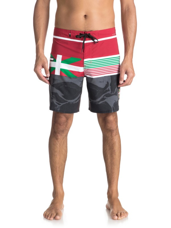 """0 Highline Local 19"""" - Board Shorts Red EQYBS03890 Quiksilver"""