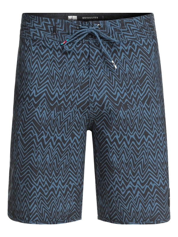 """0 Variable 19"""" Volley Boardshorts Blue EQYBS03908 Quiksilver"""
