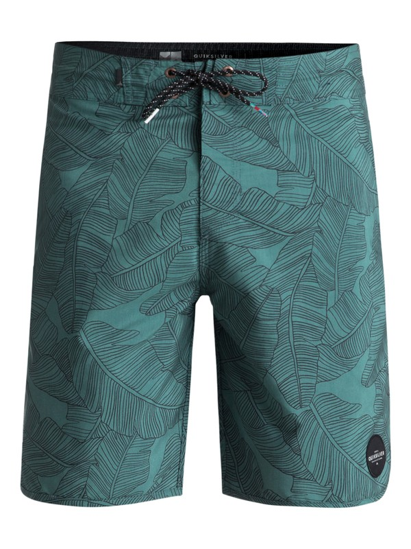 """0 Variable 19"""" Volley Boardshorts Green EQYBS03908 Quiksilver"""