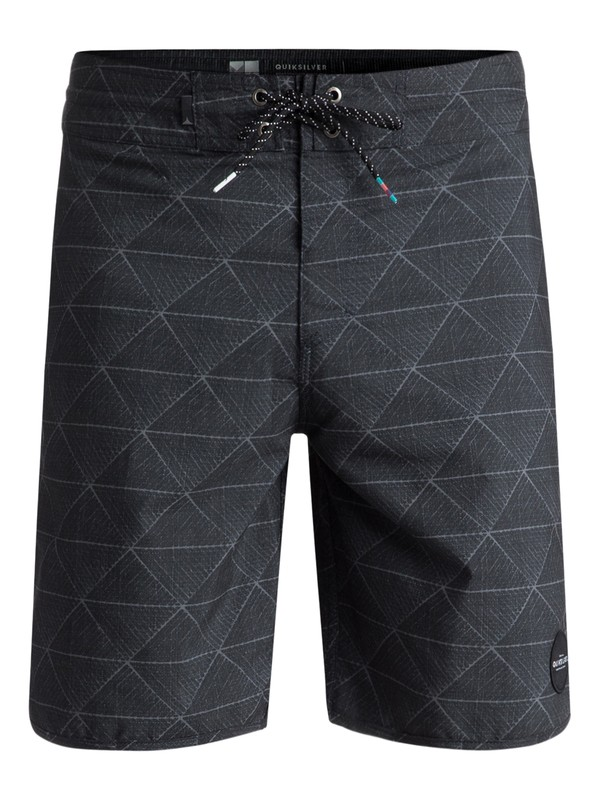 """0 Variable 19"""" Volley Boardshorts Black EQYBS03908 Quiksilver"""