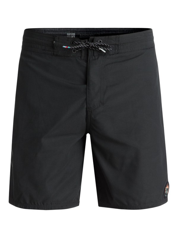 "0 Peaceful Chaos 18"" Volley Boardshorts Black EQYBS03915 Quiksilver"