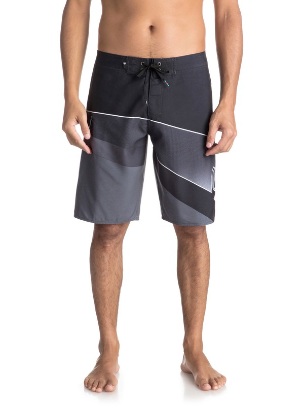 "0 Slash Fade Logo 21"" - Board Shorts Black EQYBS03929 Quiksilver"